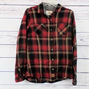Legendary White Tails red plaid flannel A12